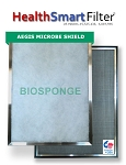 14x14x1 A/C Furnace Air Filter, HealthSmart Frame & 6-Pack Biosponge