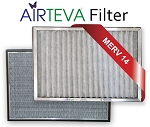14x24x1 Air Filter-AIRTEVA Frame & 4-Pack of MicroSponge