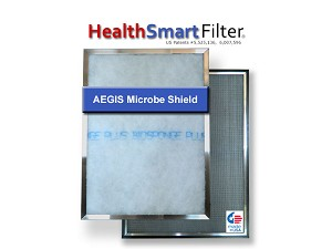 16x16x1-Inches Furnace Filter, HealthSmart Frame & 6-Pack Biosponge Plus