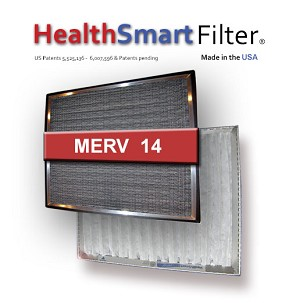 16x24x1 Air Filter-HealthSmart Frame & 4-Pack of MicroSponge